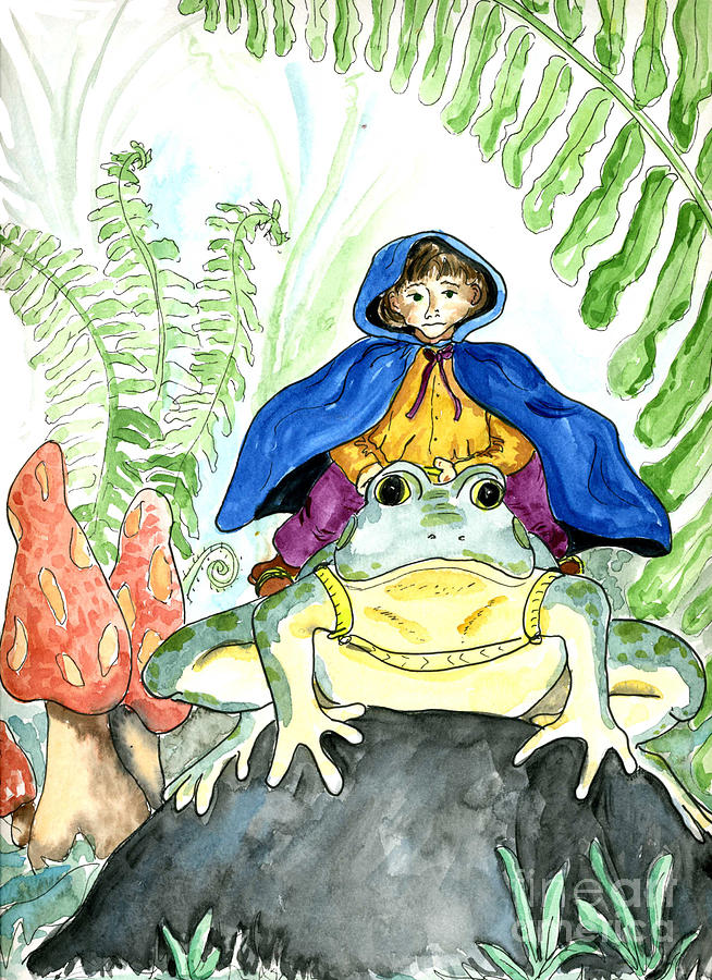 Watercolor Painting - Bullfrog Steed by Ellen Miffitt