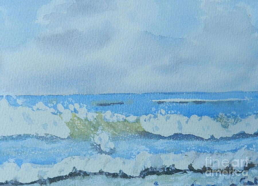 Impressionism Painting - Bulli Beach by Pamela  Meredith