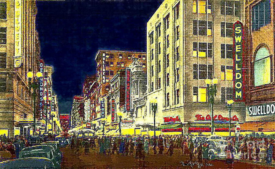 Bullock 39 s department store on broadway in downtown los for Painting in los angeles