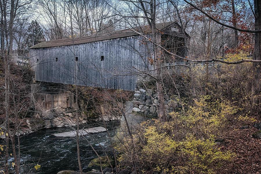 Joan Carroll Photograph - Bulls Bridge Covered Bridge by Joan Carroll