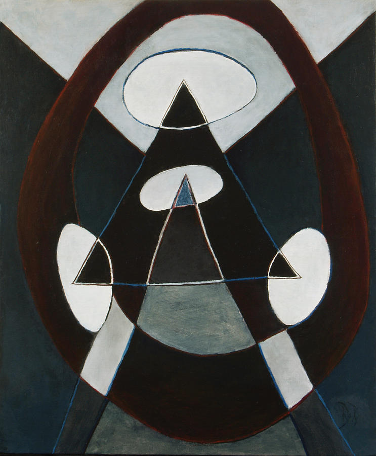 Abstract Painting - Bullseye by David Douthat