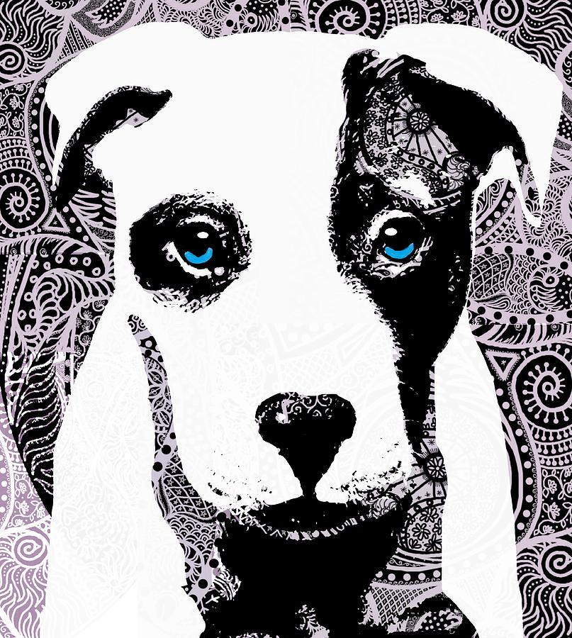 Dog Digital Art - Bully by Cindy Edwards