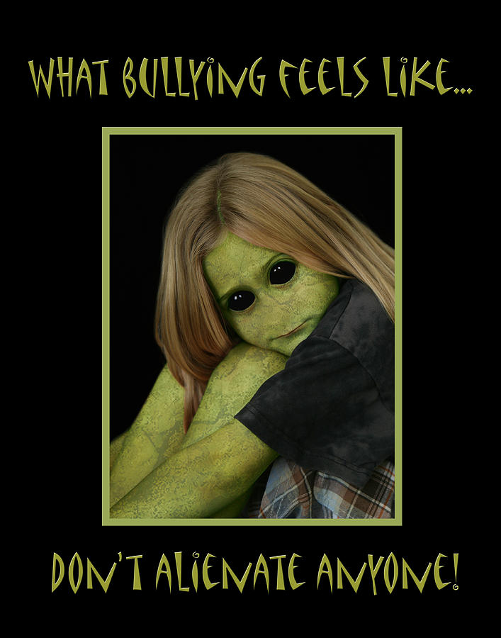 Alienate Photograph - Bully by Karen Walzer