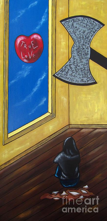 Violence Painting - Bully by Sandra Marie Adams