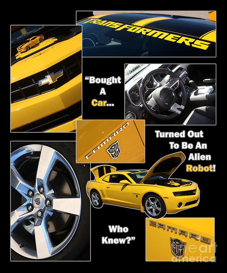 Camaro Photograph - Bumble Bee-robot - Poster by Gary Gingrich Galleries