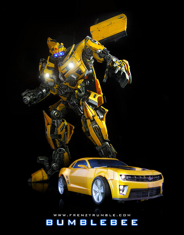 bumblebee movie mixed media by frenzyrumble