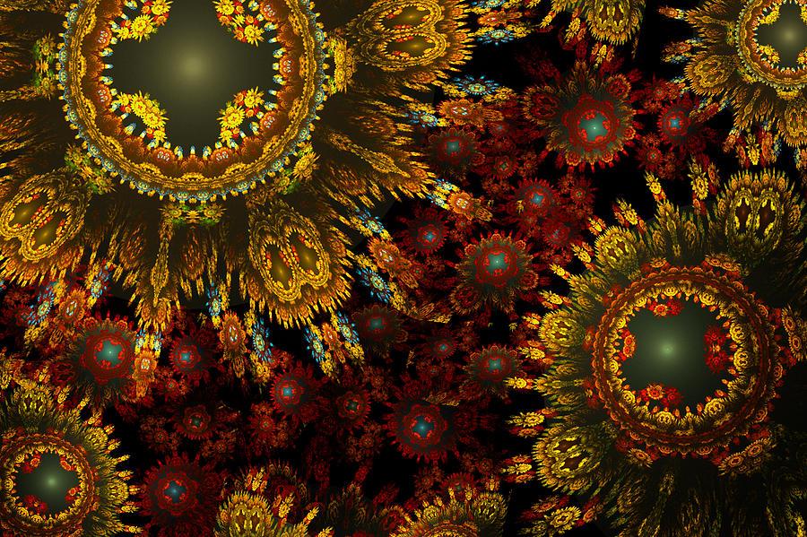 Fractal Digital Art - Bumper Crop by Phil Clark