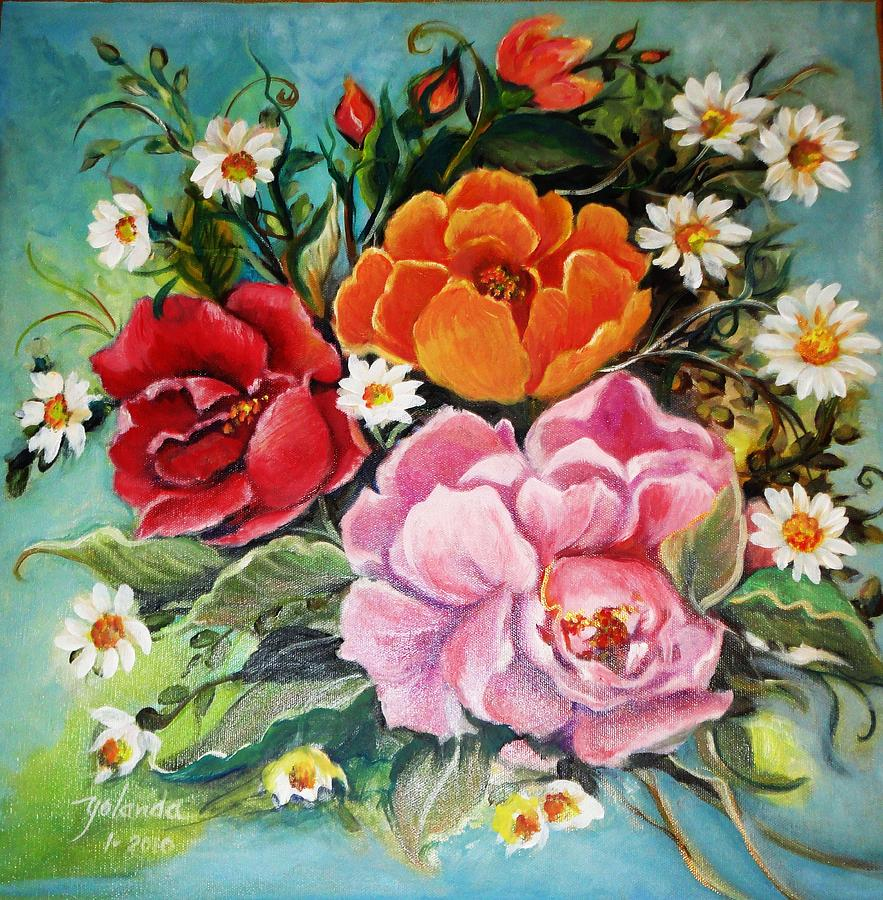 Bunch Of Flowers Painting By Yolanda Rodriguez