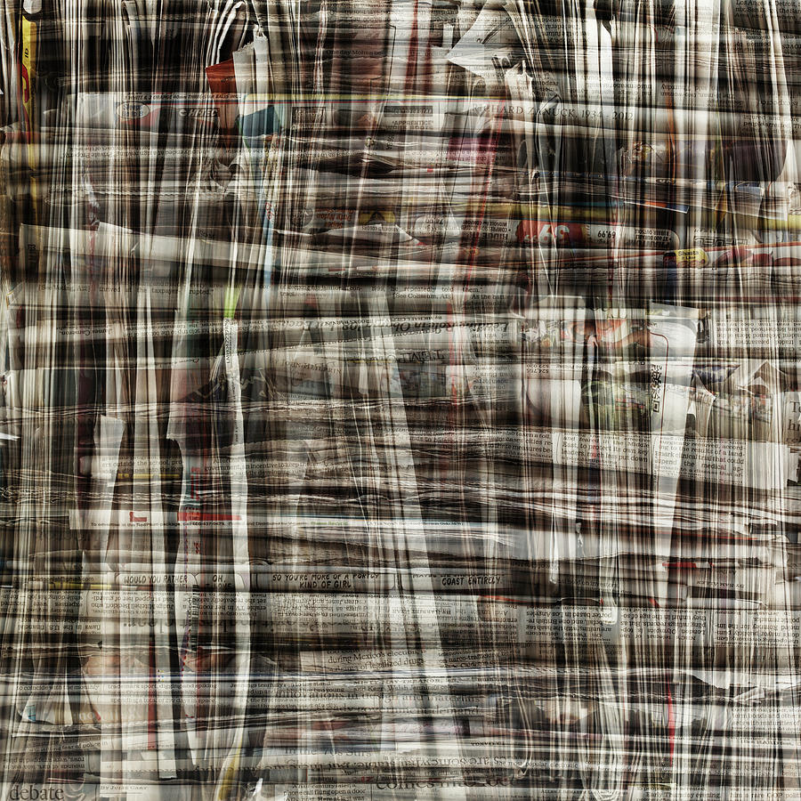 Bundle Of Newspapers Layered Photograph by Paul Taylor
