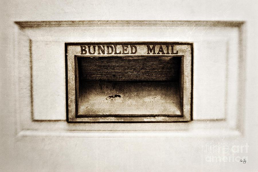 Mail Slot Photograph - Bundled Mail by Scott Pellegrin