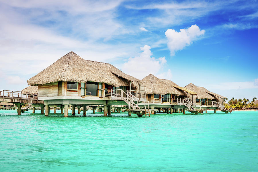 Bungalow Resort On Water Bora-bora Photograph by Mlenny