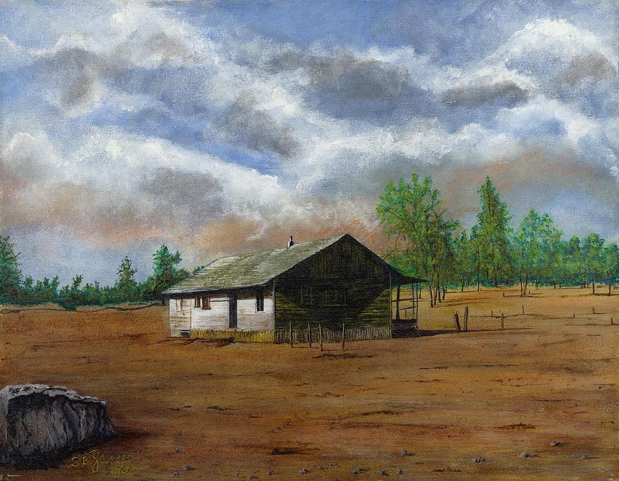 Bunk House Cheyenne Wy Painting by Stuart B Yaeger