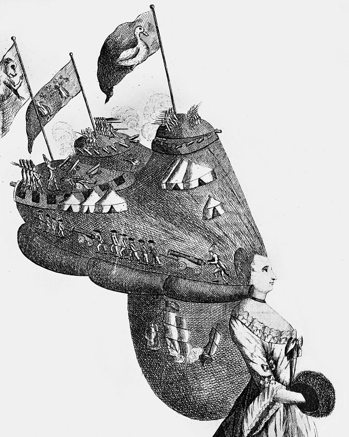 Bunker Hill Cartoon 1776 Photograph By Granger