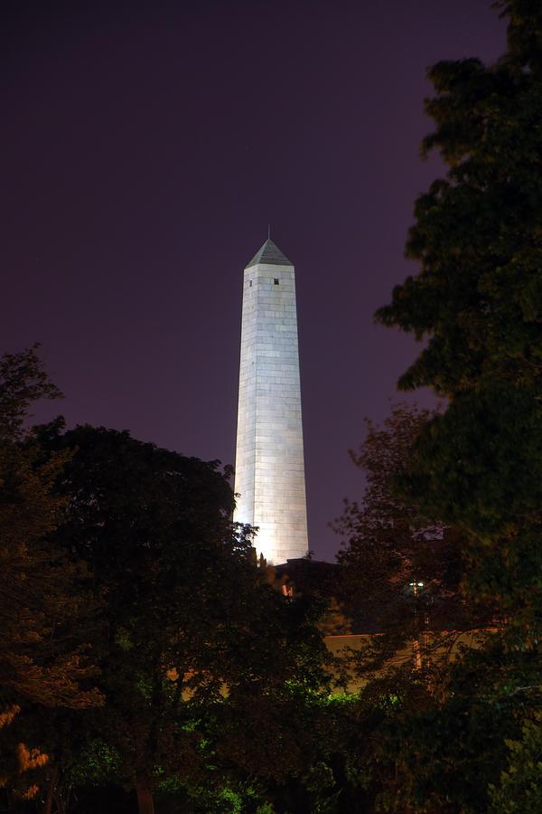 Boston Night Scenes Photograph - Bunker Hill Monument - Boston by Joann Vitali
