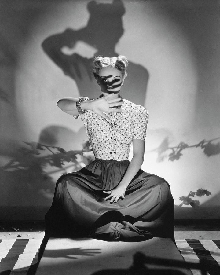 Bunny Hartley Casting A Shadow On Her Face Photograph by Horst P. Horst