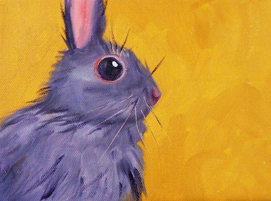 Rabbit Painting - Bunny by Nancy Merkle