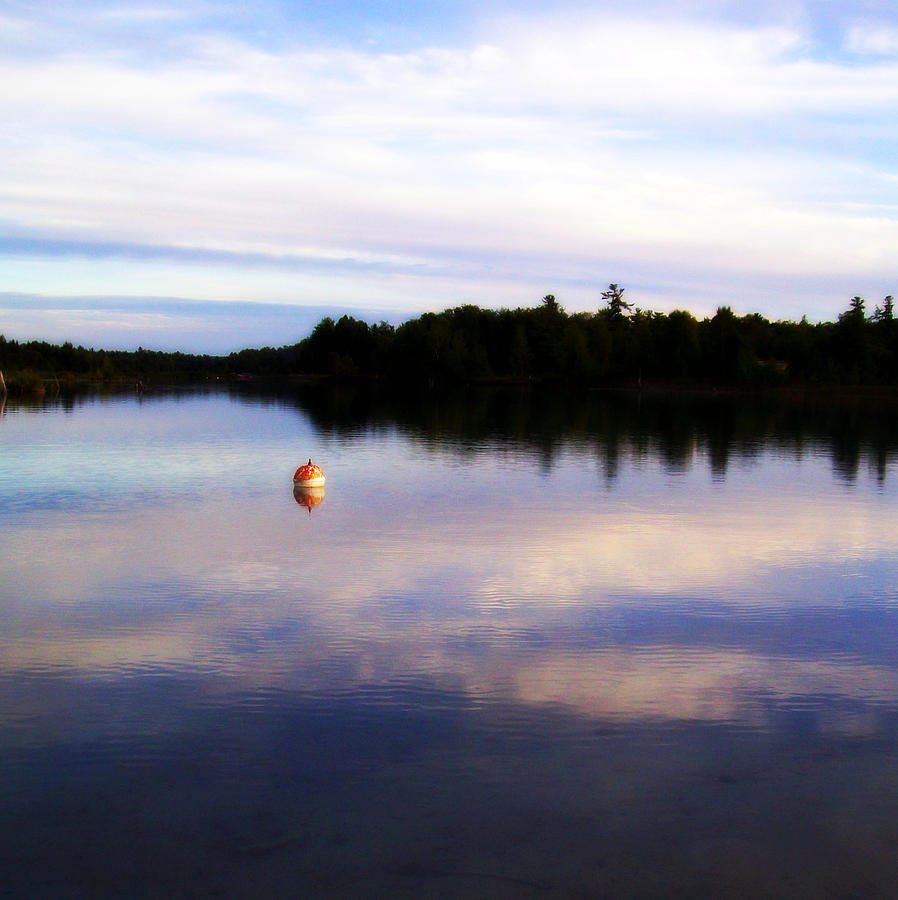 River Photograph - Buoy On The Torch Bayou by Michelle Calkins