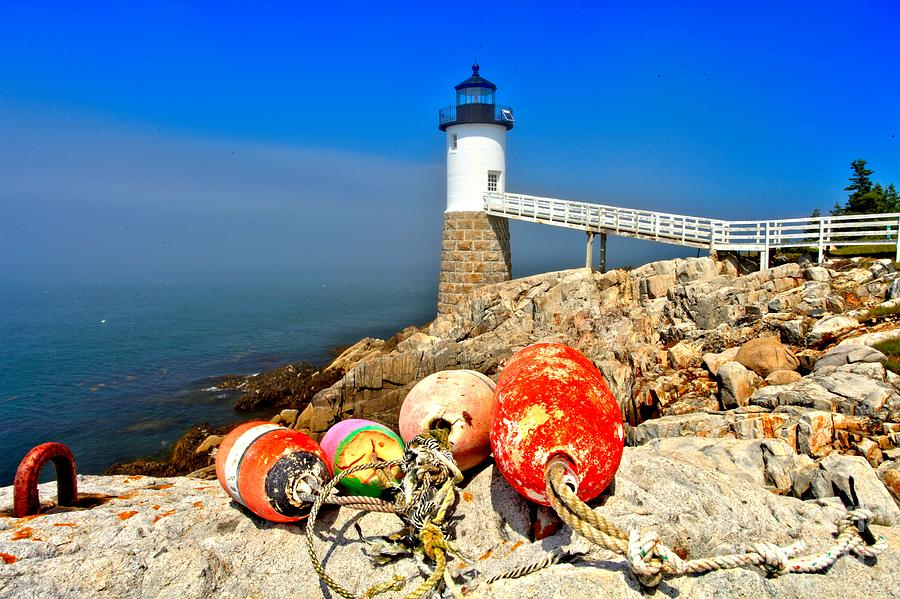 Robinson Point Lighthouse Photograph - Buoyed by Adam Jewell