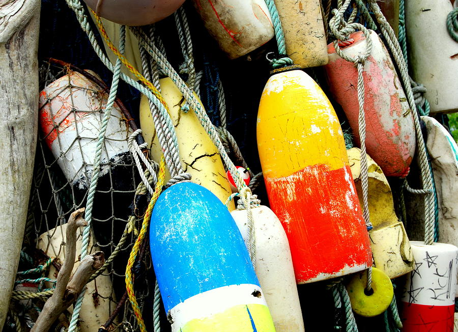 Buoys Photograph - Buoys by Mamie Gunning