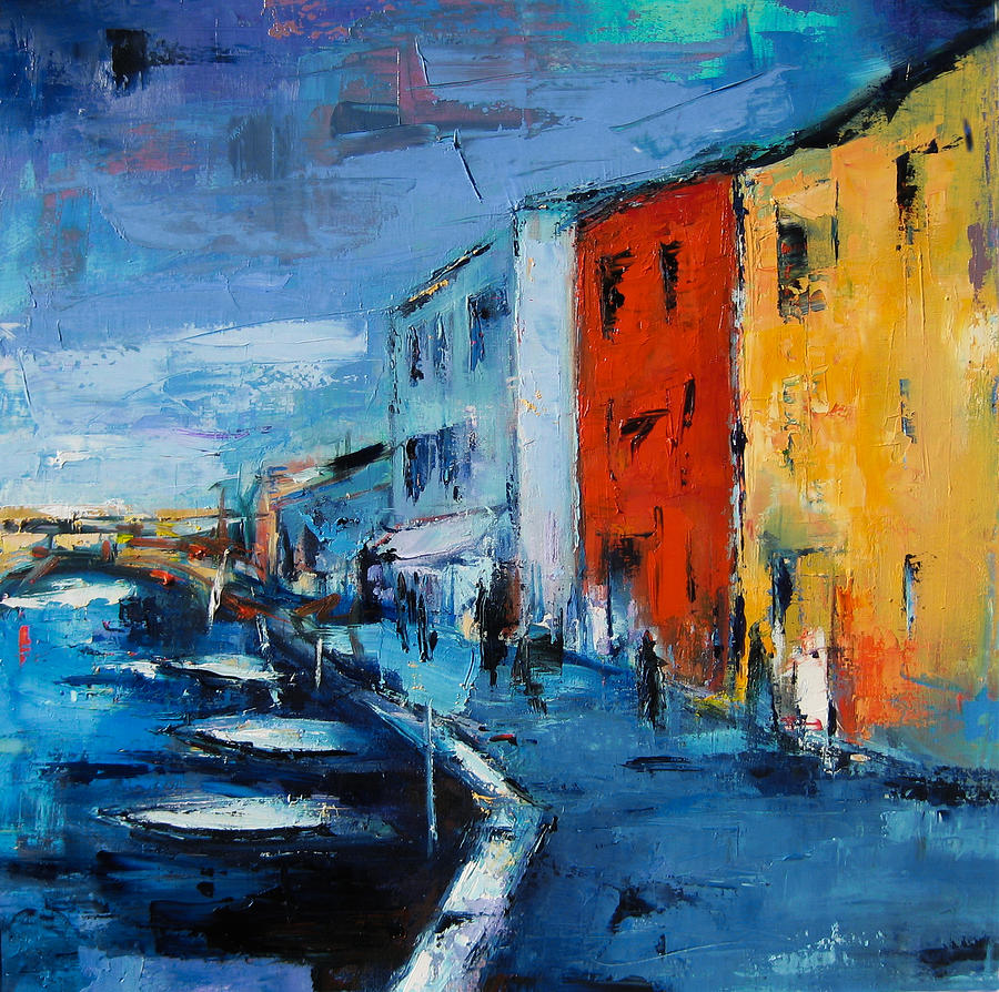 Italy Painting - Burano Canal - Venice by Elise Palmigiani