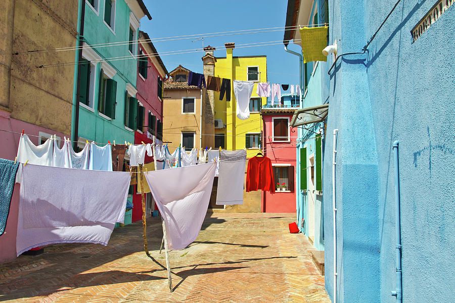Burano - Laundry Day Photograph by Anda Stavri Photography