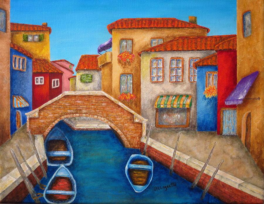 Venice Painting - Burano by Pamela Allegretto