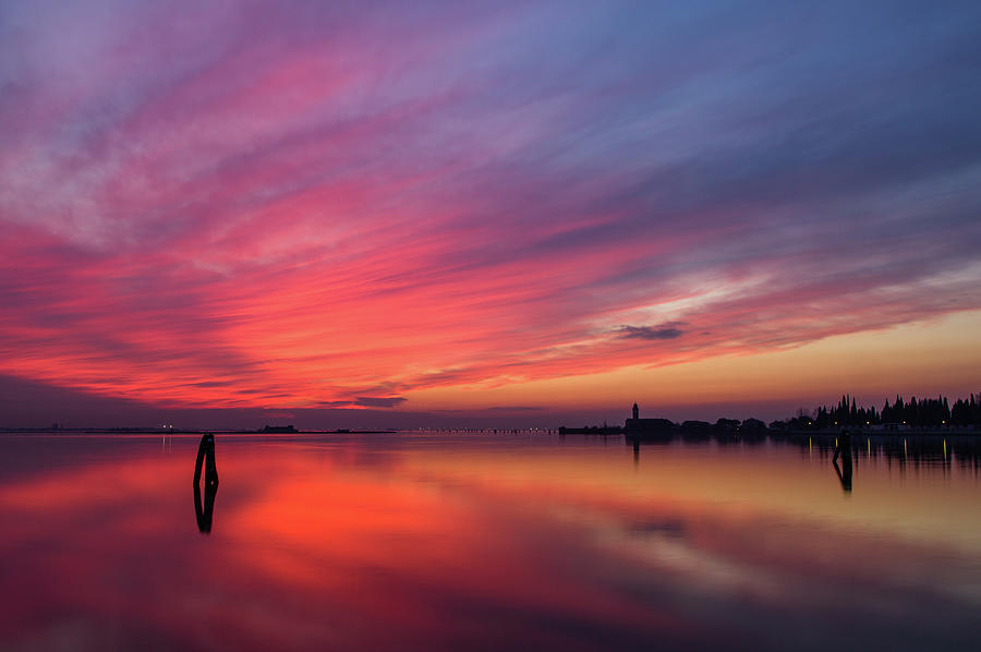 Burano Sunset Photograph by Irene Becker Photography