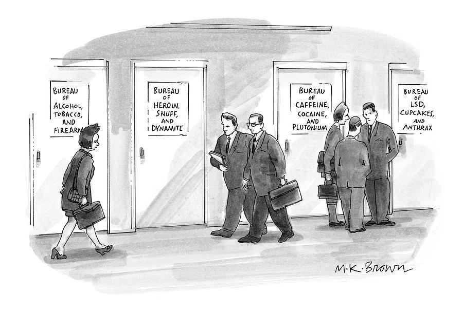 Bureaus Of Dangerous Stuff Etc Drawing by M.K. Brow