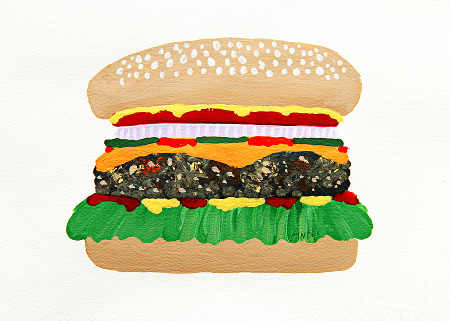 Burger Me Painting by Andee Design