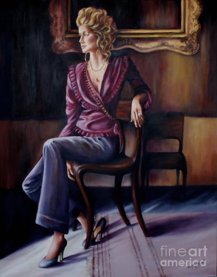 Burgundy Lady by Myra Goldick
