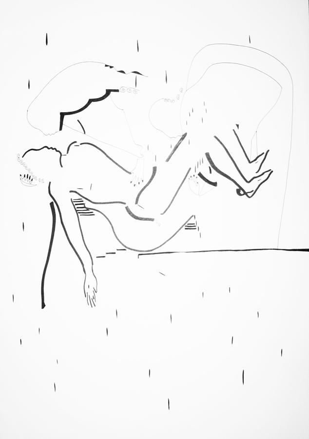 Jesus Drawing - Burial Of Jesus Christ by Gloria Ssali