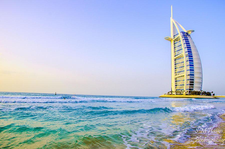 Landscape Photograph - Burj Al Arab by S M  Hasan