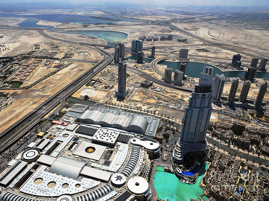 Dubai Photograph - Burj Khalifa Observation Deck View - 01 by Graham Taylor