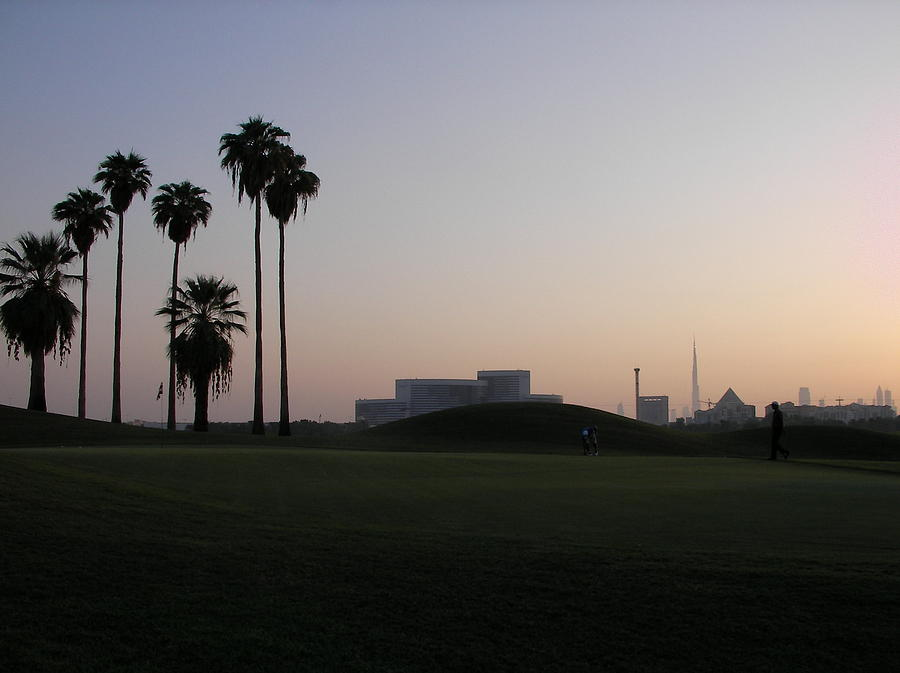Burj Photograph - Burj -view From Golf Course by Sunil Palayil