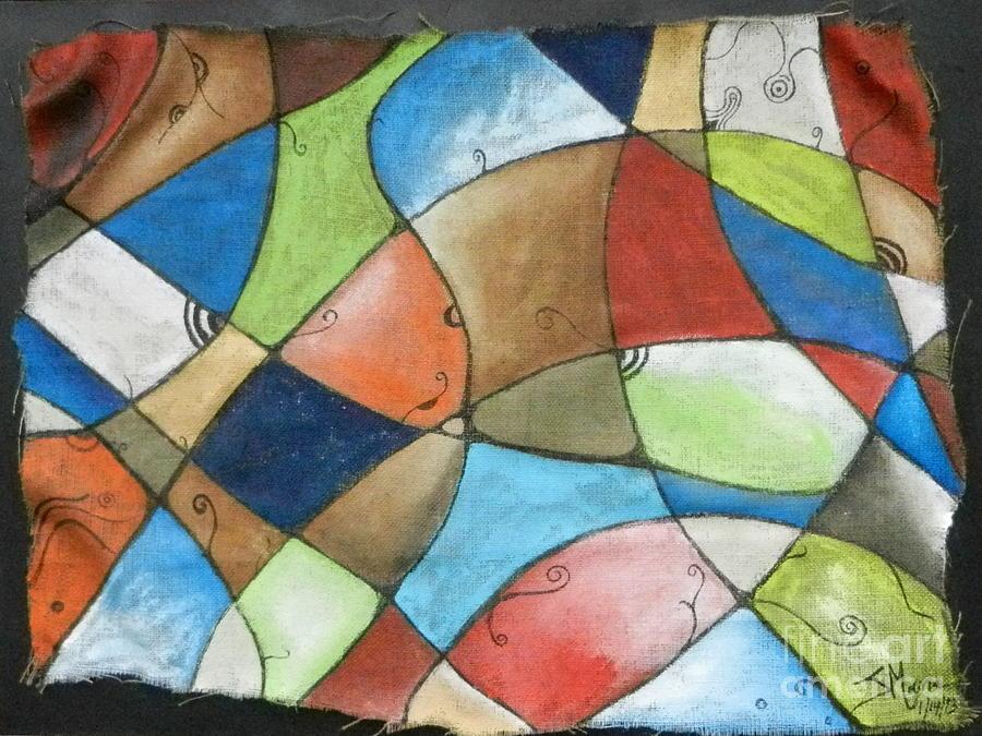 Burlap Painting - Burlap by Juan Molina
