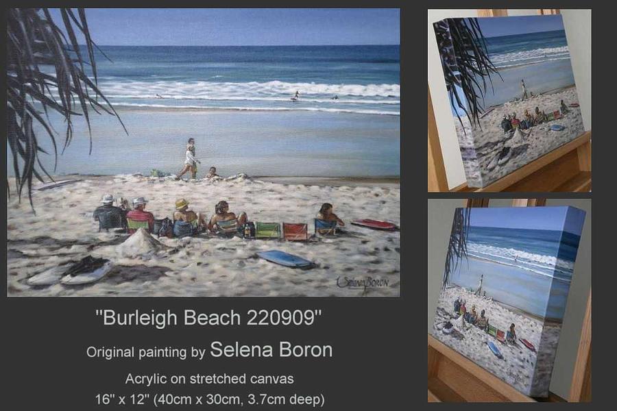 Beach Painting - Burleigh Beach 220909 by Selena Boron