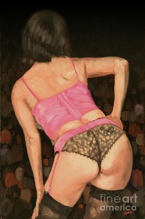 Paintings Painting - Burlesque IIi by John Silver
