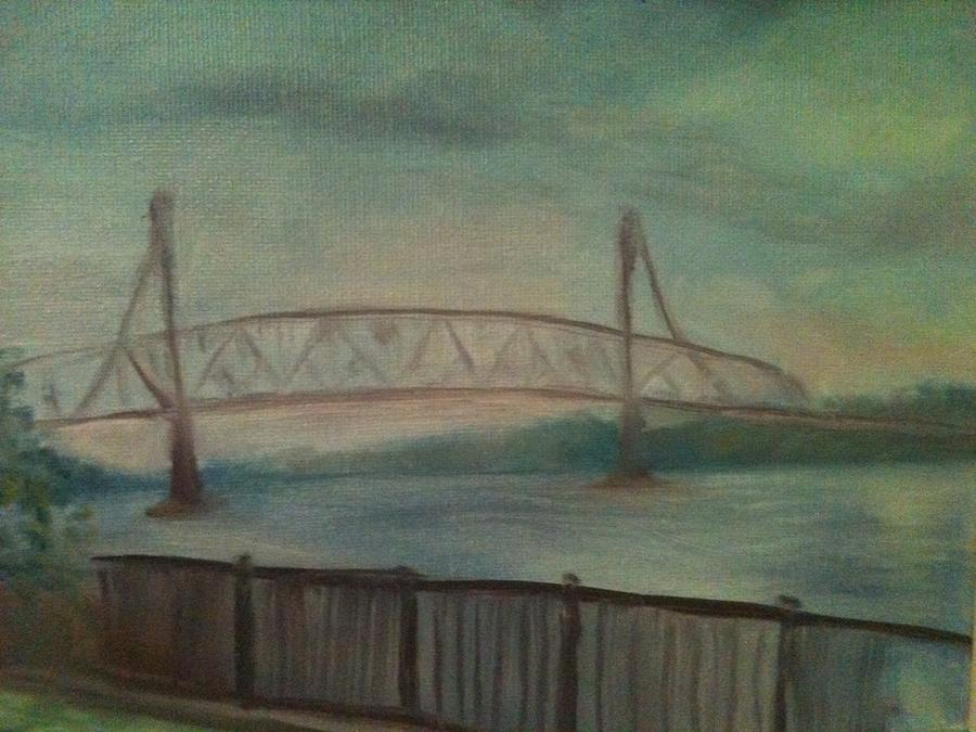 Bridge Painting - Burlington Bristol Bridge by Sheila Mashaw