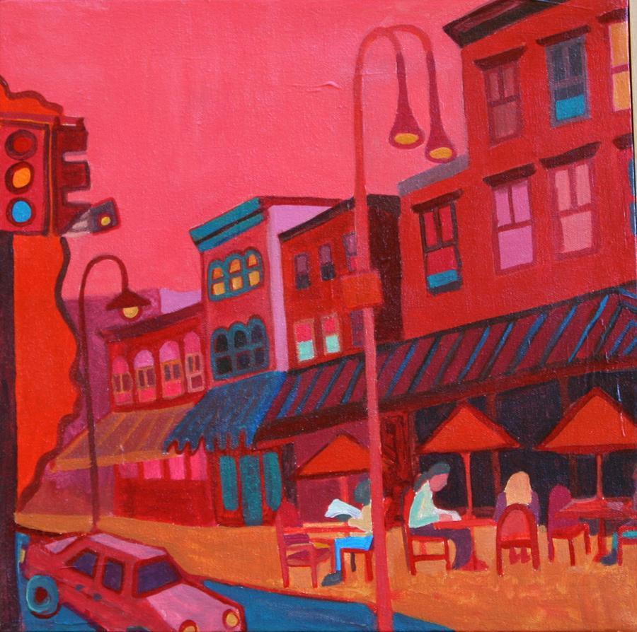 Vermont Painting - Burlington VT cafe by Debra Bretton Robinson