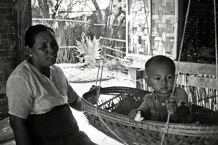 Child Photograph - Burmese Grandmother And Grandchild by RicardMN Photography