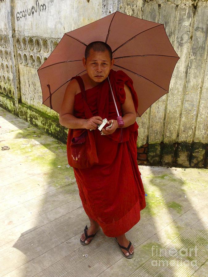 Burmese Monk on Bogyoke Road next to Yangon Central Railway Station Burma by PIXELS  XPOSED Ralph A Ledergerber Photography