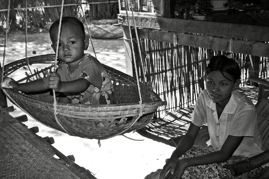 Child Photograph - Burmese Mother And Son by RicardMN Photography