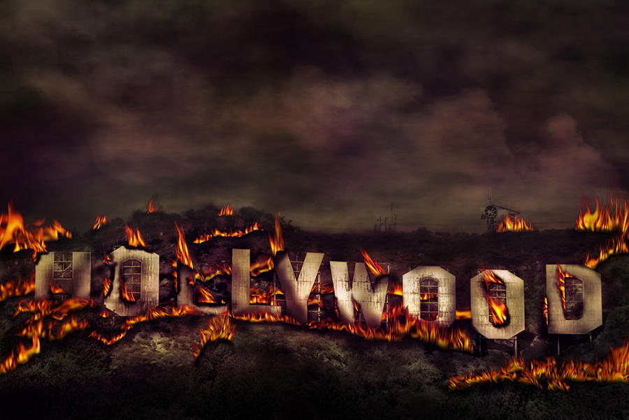 Hollywood On Fire Photograph - Burn This City by Anthony Citro