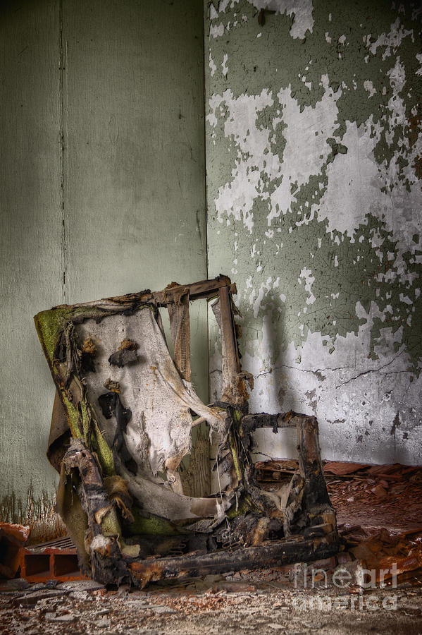 Chair Photograph - Burned by Margie Hurwich