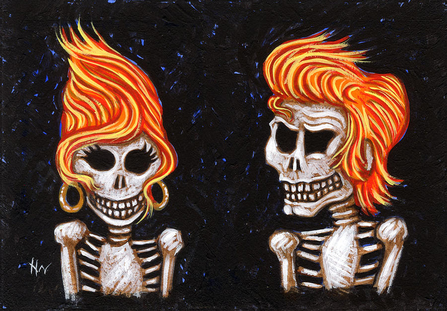 Burning Painting - Burnin Love 4 Ever by Holly Wood