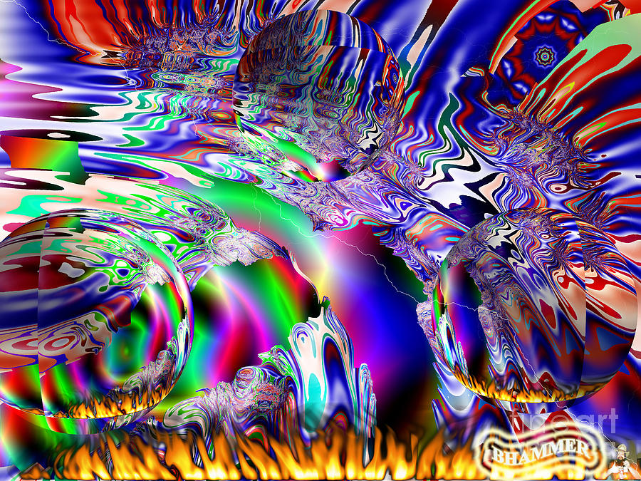 Colorful Digital Art - Burnin Up The Galaxy by Bobby Hammerstone