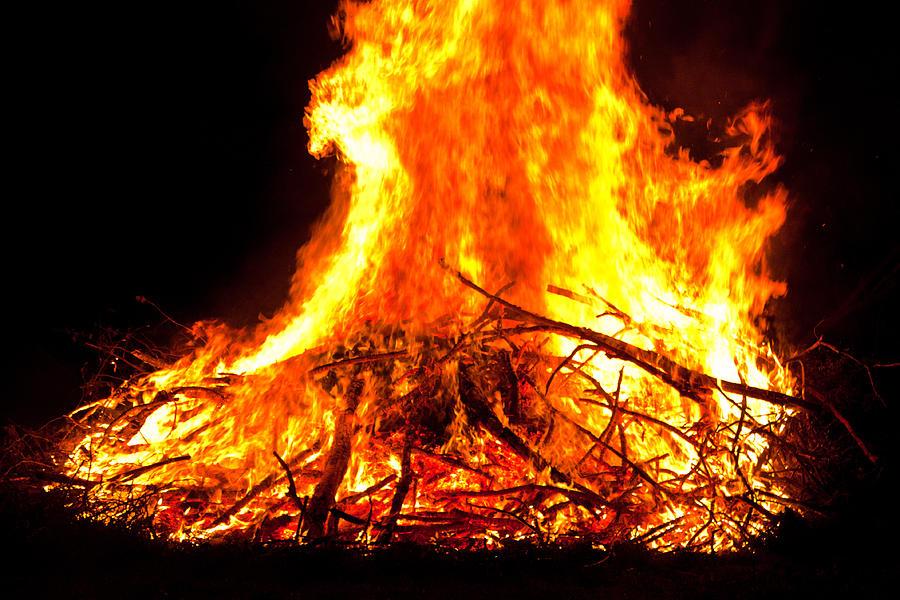 Halloween Photograph - Burning Branches by Claus Siebenhaar