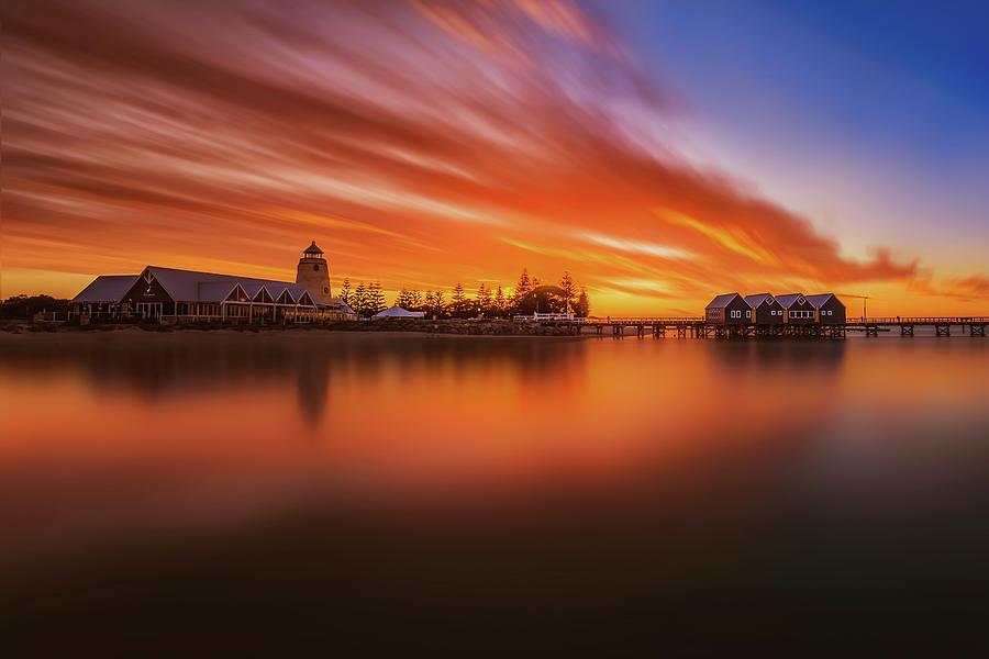 Busselton Photograph - Burning Bridge by Despird Zhang