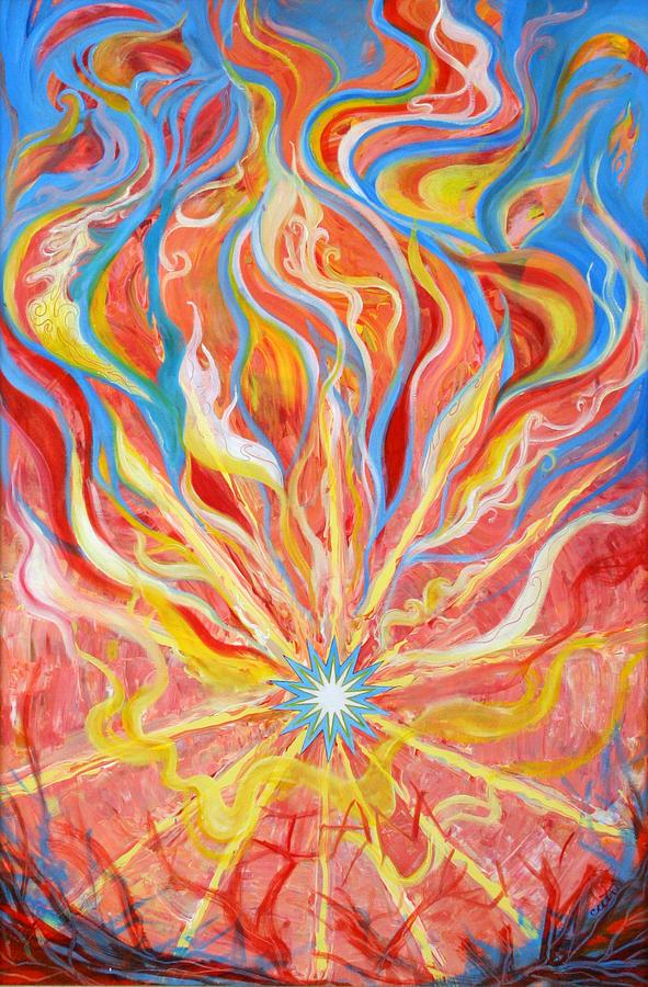Biblical Painting - Burning Bush by Anne Cameron Cutri