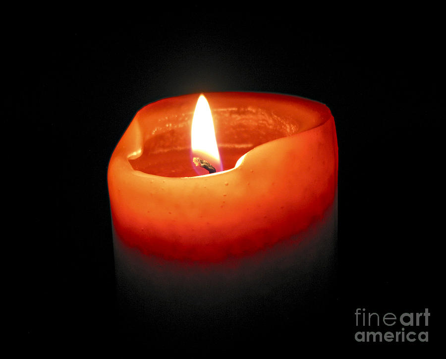 Candle Photograph - Burning Candle by Elena Elisseeva